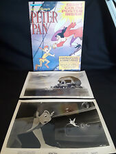 Vntg Collectible Disney Peter Pan Lot 2 Lobby Cards  Poster Magazine With Poster