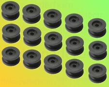 15 x Rundknopf 24mm schwarz für 6+8mm Seil mit 5mm Loch - beidseitig montierbar