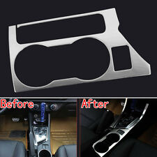 2x Console Gear Shift Cover Stripe+1x Cup Holder Trim Panel For Corolla 2014 15