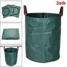 3x Gartensack Laubsack Gartenabfallsäcke Gartenabfallbehälter 272L XXL