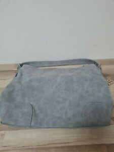 Betty Barclay Grey Suede Faux Leather Tote Shoulder Bag