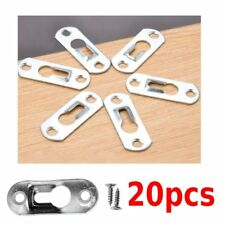 20x Heavy Duty Keyhole Picture Frame Hangers Two Hole Hanging Bracket Plate US