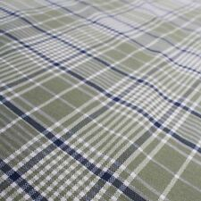 Taranto Check Green Tartan Checkered Green Tweed Curtain Upholstery Fabric