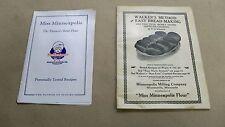 1916 Walker's Method Easy Bread Making Cook Book Booklet Miss Minneapolis Flour