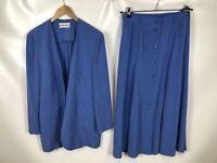 LEAN CLAIRE Damen Kostüm, Größe 40, blau, elegant, schick, fein, schlicht