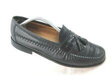 Florsheim Pisa Mens 10D Black Leather Crocodile Print Tassel Loafers Shoes 18469