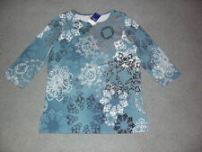 Floral 100% Cotton Millers Falls Company Tops for Women