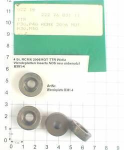 4 St. RCMX 2006MOT TTR Widia Wendeplatten Inserts NOS neu unbenutzt B381-4
