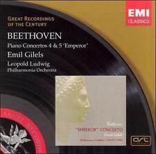 Piano Concertos Nos 4 & 5 Emperor, Gilels, Emil, , Very Good Original recording