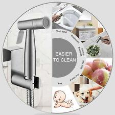 Handheld Bidet Spray Shower Head Toilet Shattaf Hose Bathroom Stainless Steel