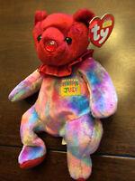 TY Beanie Baby - JULY the Birthday Bear (7.5 inch) - MWMTs Stuffed Animal Toy