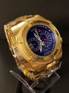 Invicta Reserve Bolt Zeus Tria 3 Swiss Mvmt 18k Gold Plated Watch + Dive Case!