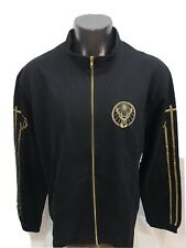 NEW Jagermeister Full-Zip Track Jacket Black and Gold 100% Cotton Size 2XL