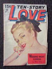 1950 Oct TEN-STORY LOVE Pulp Fiction Magazine VG Mara King