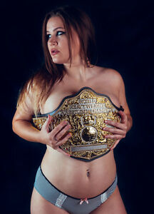 Fandu Unisex Nickel/gold Texture Wrestling Championship Belt Title