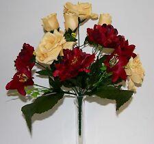 Bouquet Rose-Pivoine x 13  Fleurs Artificielles intérieur/extérieur