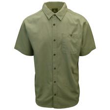 prAna Men's Spring Green Jaffra S/S Woven Shirt (S12)