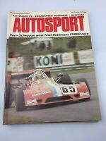 VINTAGE AUTOSPORT MAGAZINE MAG OCTOBER 1974 F1 RACING CARS FITTIPALDI
