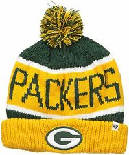 NFL Green Bay Packers '47 Calgary Cuff Knit Beanie with Pom, Dark Green/Yellow,