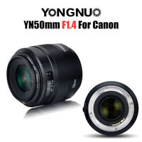 YONGNUO YN50mm F1.4 Standard Prime Lens Large Aperture Auto Focus Lens for Canon