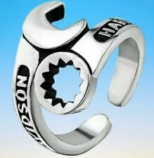 Mens Harley Davidson Stainless Steel Wrench Ring / Open Size
