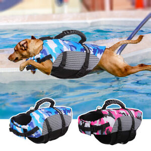 Dog Life Jacket Buoyancy Aid Pet Swimming Boating Reflective Safety Vest XS-XXL
