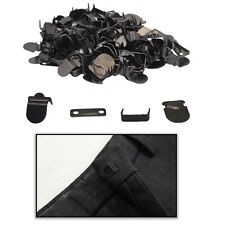 Hook and Bar Fasteners 10mm 10 Sets Gunmetal for Trouser Skirts & Other Garments
