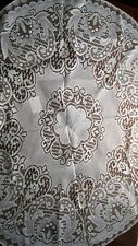 """LACE TABLECLOTH 36"""" for Small Round Table Brand New White Imported Floral Design"""