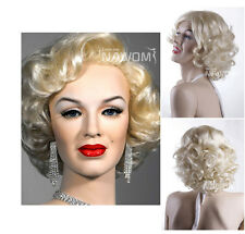 Cosplay Party Wig Marilyn Monroe Short Curly Wavy Full Wigs Hair Fashion Beauty