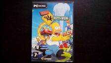 THE SIMPSONS HIT & RUN : COFFRET JEU PC 3 CD-ROM (Sierra COMPLET envoi suivi)