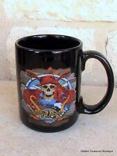 Hard Rock Cafe Cayman Islands Coffee Cup Mug Skull Guitar Crossbones