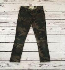 Textile Elizabeth & James size 25 skinny Camo camouflage Womens jeans Frayed Hem