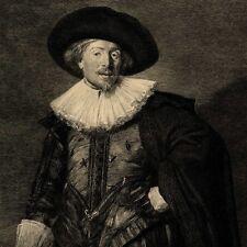 Frans Hals Portrait de Michel de Waal Gravure Achille Gilbert  19e siècle