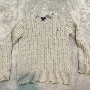 Polo by Ralph Lauren Boys' Cable Knit Crewneck Sweater Size M (10-12)