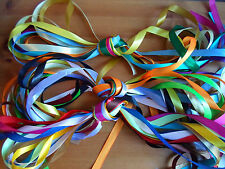 "12mm x 1m x 10 1/2"" satin ribbon Assorted colours 1 metre lengths UK VAT Reg"
