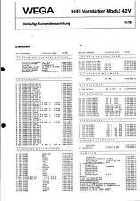Wega Service Schaltplan für Modul 42 V