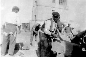 Stone Quarrying  Malta . World War 2 photograph