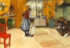 """Carl Larsson: la cocina: estilo sueco, Sundborn: 24 """"Fine Art Lona Impresión"""