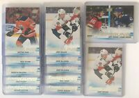 12 CARD LOT OF 2019-20 Upper Deck Young Guns Rookies - Includes Hughes Checklist