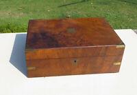 Antique Walnut or Similar Writing Box/Slope