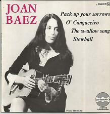 JOAN BAEZ Pack up your sorrows FRENCH EP AMADEO 1966