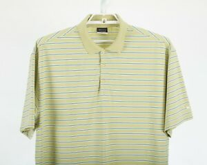 Nike Golf Fit Dry Green with Blue Stripes Men's Golf Polo Shirt Size 2XL