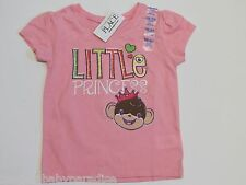 """NWT The Childrens Place """"Little Princess"""" Monkey Tee T-Shirt Baby Infant 18-24M"""