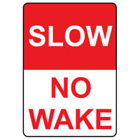 Oars New Doorknob Hanger Sign No Wake Zone