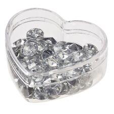 120 Streu Diamanten Streudeko Tischdeko Streuteile Kristalle Deko 10 mm Acryl