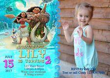 Moana Invitation, Invitations, Birthday, Moana, Movie party, Luau