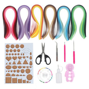 14Pcs Paper Quilling Kits 6 Gradient Colors 600 Strips Quilling Art Paper DI_BI
