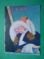 Original Cover Art Deco George Plank Mens Magazine Vogue 1 Fevrier 1927 February