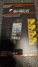 Zagg iphone 5 Screen Protector New In Retail Box w/ Accessories