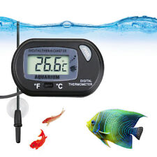 Digital Aquarium Thermometer Waterproof Lcd Tank Measure Water Temperature Tool